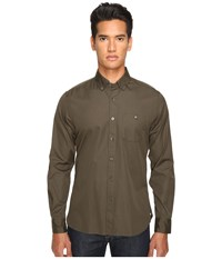 Todd Snyder Solid Poplin Olive Men's Clothing