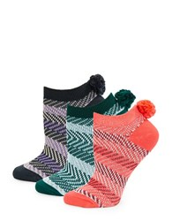 Free People Three Pack Pom Pom Socks Multi