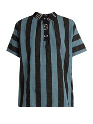 Ace And Jig Mercer Striped Cotton Top Blue