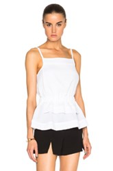 Carven Peplum Tank Top In White