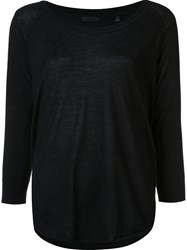 Atm Anthony Thomas Melillo Scoop Neck Pullover Black