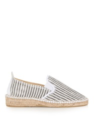 Prism Perforated Leather Espadrilles