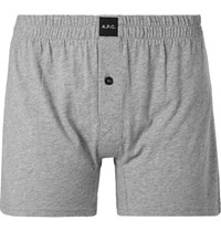 A.P.C. Cotton Boxer Shorts Gray