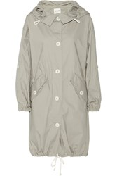 Mih Jeans Oversize Washed Cotton Parka Gray