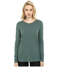 Three Dots Kale Long Sleeve Top Forage Women's Clothing Green