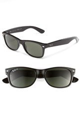 Women's Ray Ban 'New Small Wayfarer' 52Mm Polarized Sunglasses Black Polarized