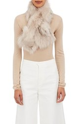 Barneys New York Women's Fur Pull Through Scarf Tan