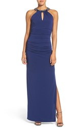 Laundry By Shelli Segal Women's Beaded Neck Gown