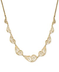 Lucky Brand Gold Tone Butterfly Collar Necklace