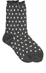Antipast Women's Dotted Mid Calf Socks Silver
