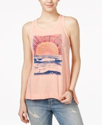 Lucky Brand Sunrise Mountain Tank Top Peach Amber