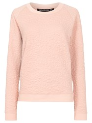 Sugarhill Boutique Betty Floral Embossed Sweater Peach