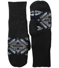 Pendleton Fleece Lined Mittens Mesquite Canyon Oxford Wool Gloves Black