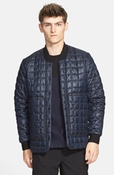 Quilted Shirt Jacket Navy