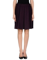 Trou Aux Biches Knee Length Skirts Deep Purple