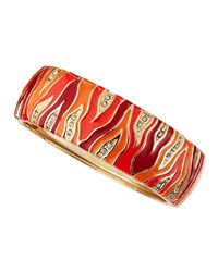 Wide Zebra Bangle Orange Sequin
