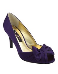 Nina Forbes Satin Pumps Purple