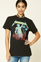 Forever 21 Metallica Graphic Band Tee Black Green