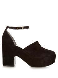 Robert Clergerie Vital Suede Platform Pumps Black