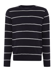 Paul Smith Long Sleeve Striped Crew Neck Jumper Navy