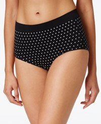 Bali Osu All Over Smoothing Brief 2361 Black White Dot
