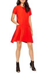 Donna Morgan Women's Crepe A Line Dress Tincture Red