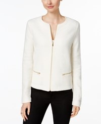 Charter Club Wool Zip Front Cardigan Only At Macy's Vintage Cream