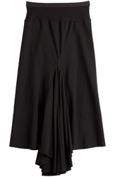 Rick Owens Wool Viscose Ruched Front Skirt