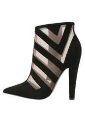 Paper Dolls High Heeled Ankle Boots Black