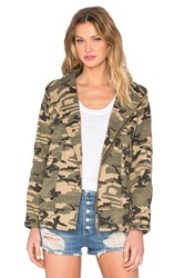 Capulet Hooded Military Jacket Army