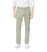 Michael Kors Leather Piped Chinos Olive