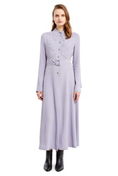 V Ronique Leroy Long Sleeve Shirt Dress Lilac