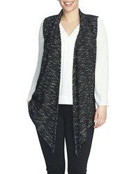 Chaus Sleeveless Eyelash Knit Vest Black