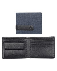 Nixon Faded Blue Showout Bi Fold Snap Wallet