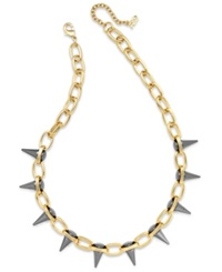Abs By Allen Schwartz Two Tone Spike Collar Necklace Two Tone