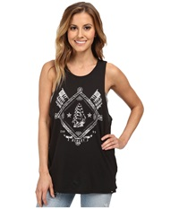 Hurley Shining Sea Riot Biker Tank Top Black Women's Sleeveless