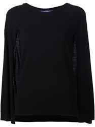 Ralph Lauren Black Label Cape Sleeves Jumper Black