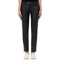 Harvey Faircloth Women's Faux Leather Pants Blue