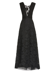 Adam By Adam Lippes Floral And Lattice Lace Gown