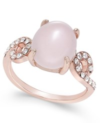 Charter Club Rose Gold Tone Pink Stone And Pave Ring Only At Macy's