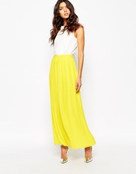 Boss Orange Beflowy Pleated Maxi Skirt 735 Bright Yellow