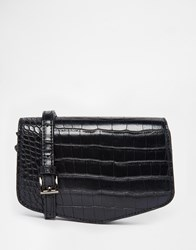 Marc B Bella Cross Body Bag Blackcroc