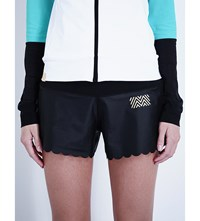 Monreal London Scalloped Jersey Shorts Black