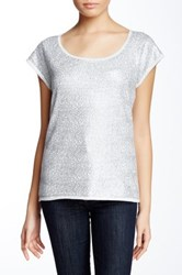 Joan Vass Sequined Tee Gray