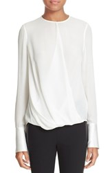 Rag And Bone Women's 'Max' Surplice Silk Blouse