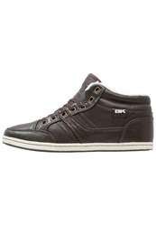 British Knights Restyle Hightop Trainers Dark Brown