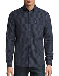 Ben Sherman Abstract Striped Sportshirt Navy Blazer