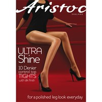 Aristoc 10 Denier Control Top Bodyshaper Sheer Tights Illusion