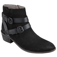 Hudson H By Meeya Buckle Ankle Boots Black