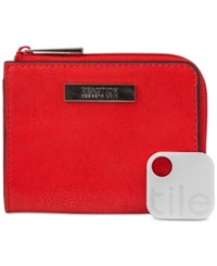 Kenneth Cole Reaction Top Zip Coin Purse With Tracker Flame